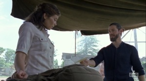 The Obliged- Jesus gives Maggie a letter from Georgie- AMC, The Walking Dead
