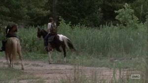 The Obliged- Maggie and Dianne pass by some decapitated walkers- AMC, The Walking Dead