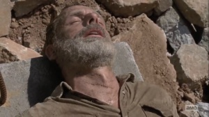 The Obliged- Rick impaled by rebar- AMC, The Walking Dead
