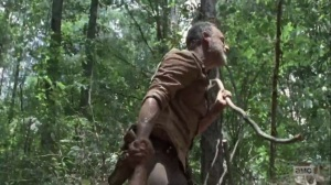 The Obliged- Rick pulls Daryl out of the plot hole- AMC, The Walking Dead