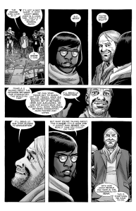 The Walking Dead #184- Eugene talks with Stephanie about the possibility of getting around through trains