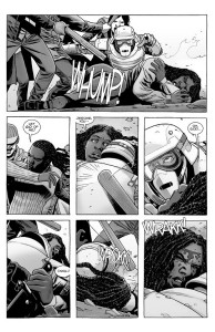The Walking Dead #184- Jerome protects Michonne