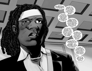 The Walking Dead #184- Michonne pleads to have all charges dropped
