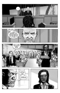 The Walking Dead #184- Michonne states her case to the counselor