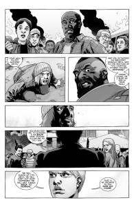 The Walking Dead #184- Pamela and Mercer stop the riot