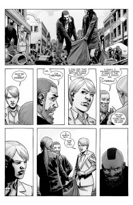 The Walking Dead #184- Pamela sees Rick helping clean up after the riot