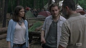 Warning Signs- Alden talks with Rick and Maggie about possibly arming the Saviors- AMC, The Walking Dead