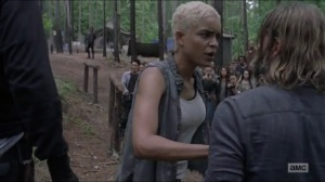 Warning Signs- Arat tries to prevent a fight between the Saviors and other survivors- AMC, The Walking Dead