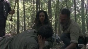 Warning Signs- Beatrice found knocked out in the woods- AMC, The Walking Dead