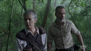 Warning Signs- Carol and Rick search for Arat- AMC, The Walking Dead
