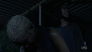 Warning Signs- Cyndie tells Maggie and Daryl about how Arat executed her brother- AMC, The Walking Dead