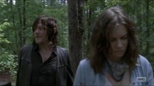 Warning Signs- Daryl and Maggie discuss Rick's methods- AMC, The Walking Dead