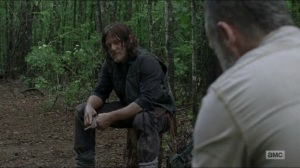 Warning Signs- Daryl tells Rick that he didn't kill Justin- AMC, The Walking Dead