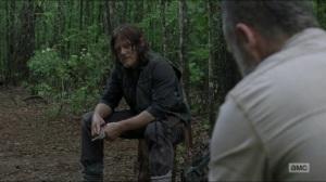 Warning Signs- Daryl tells Rick that he didn't kill Justin- AMC, The Walking Dead