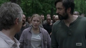 Warning Signs- Fight about to break out between Saviors and other communities- AMC, The Walking Dead