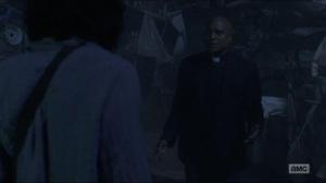 Warning Signs- Gabriel followed Jadis to the junkyard- AMC, The Walking Dead