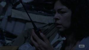 Warning Signs- Jadis talks with someone on the radio about A or B- AMC, The Walking Dead