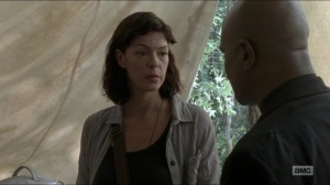 Warning Signs- Jadis tells Gabriel that she had nothing to do with Justin's death- AMC, The Walking Dead
