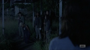 Warning Signs- Maggie and Daryl find Oceanside women about to execute Arat- AMC, The Walking Dead