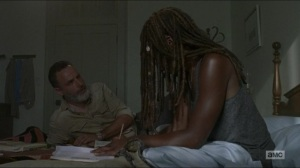 Warning Signs- Rick and Michonne discuss the future- AMC, The Walking Dead