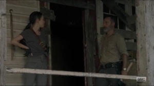 Warning Signs- Rick and Rosita wonder why the other grids have not arrived- AMC, The Walking Dead