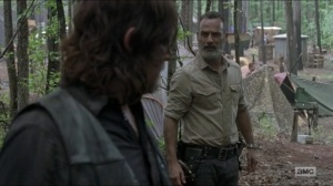 Warning Signs- Rick talks with Daryl about Justin's death- AMC, The Walking Dead