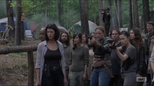 Warning Signs- Saviors and others about to fight- AMC, The Walking Dead