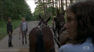 Warning Signs- Saviors ask Maggie if they know what happened to Justin- AMC, The Walking Dead