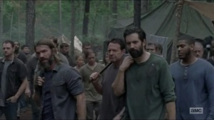 Warning Signs- Saviors depart the camp- AMC, The Walking Dead