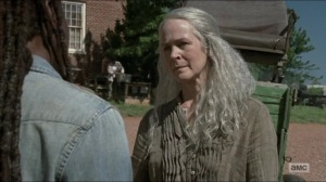 Evolution- Carol and Michonne talk about their losses- The Walking Dead, AMC