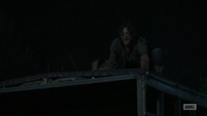 Evolution- Daryl and Dog make noise to attract the herd- The Walking Dead, AMC