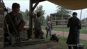 Evolution- Enid joins Henry for his first day of being a blacksmith- The Walking Dead, AMC