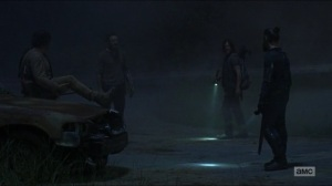 Evolution- Eugene, Aaron, Jesus, and Daryl prepare to split up- The Walking Dead, AMC