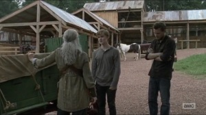 Evolution- Henry bids farewell to Carol- The Walking Dead, AMC