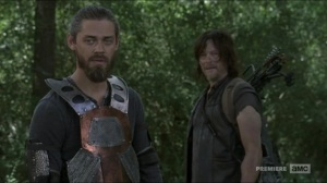 Evolution- Jesus and Daryl observe the walker herd- The Walking Dead, AMC