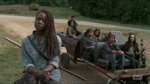Evolution- Michonne and the newcomers arrive at the Hilltop- The Walking Dead, AMC