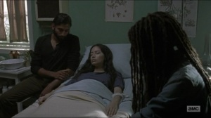 Evolution- Siddiq tells Michonne that he's on her side- The Walking Dead, AMC