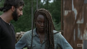 Evolution- Siddiq tells Michonne that it's good that they have arrived at the Hilltop- The Walking Dead, AMC