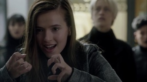 no Mercy- Rebecca smiles as she kills the Creed Financial employees- The Gifted, Fox, X-Men