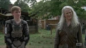 Stradivarius- Carol tells Jesus that Henry wants to be a blacksmith- The Walking Dead, AMC