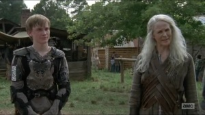 Stradivarius- Carol tells Jesus that Henry wants to be a blacksmith- The Walking Dead, AMC