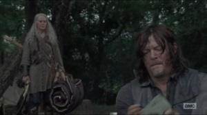 Stradivarius- Daryl brings Carol and Henry to his camp- The Walking Dead, AMC