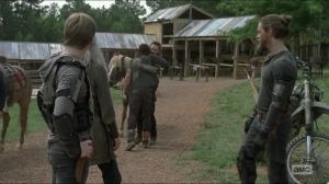 Stradivarius- Daryl, Carol, and Henry arrive at the Hilltop- The Walking Dead, AMC