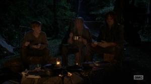 Stradivarius- Daryl, Henry, and Carol eat- The Walking Dead, AMC