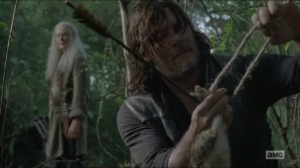 Stradivarius- Daryl hunts with Carol at his side- The Walking Dead, AMC