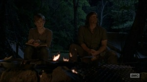 Stradivarius- Henry and Daryl by the fire- The Walking Dead, AMC