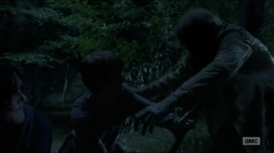 Stradivarius- Henry and Daryl fight off walkers- The Walking Dead, AMC