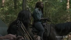 Stradivarius- Michonne and Yumiko discuss worrying about their families- The Walking Dead, AMC