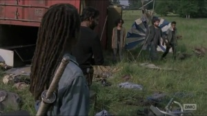Stradivarius- Michonne finds the area where Magna's group last was- The Walking Dead, AMC
