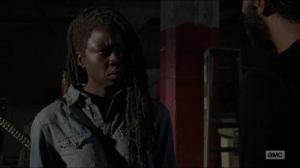 Stradivarius- Michonne hears that Maggie has left the Hilltop- The Walking Dead, AMC